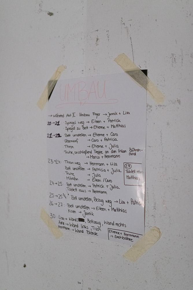 Backstage: Umbauplan