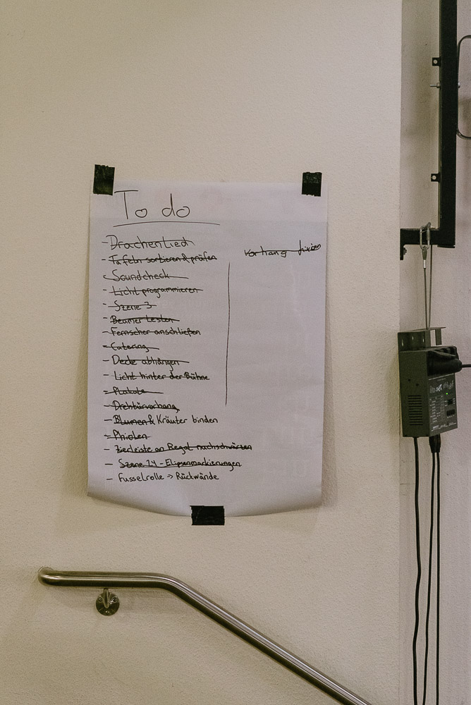 Backstage: To do-Liste